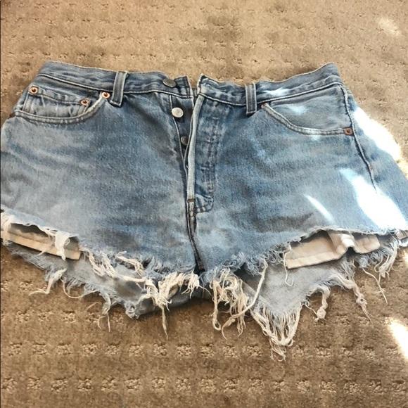 Vintage Levi cut off shorts